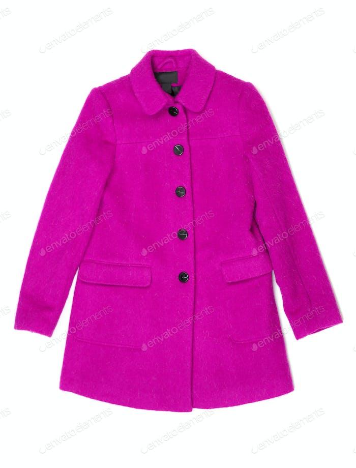 New female fashion purple coat