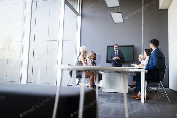 Meeting business corporate success brainstorming teamwork office concept