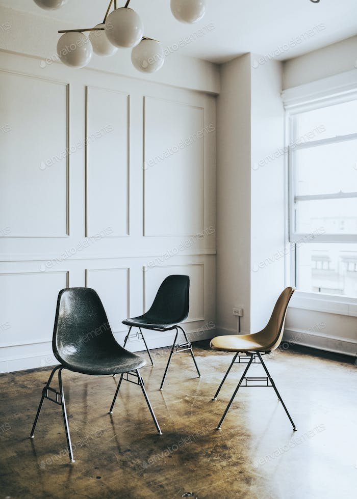 Chairs in an empty room
