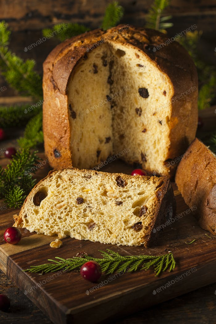 Homemade Panettone Fruit Cake