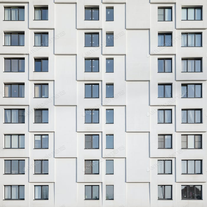 White facade of a building