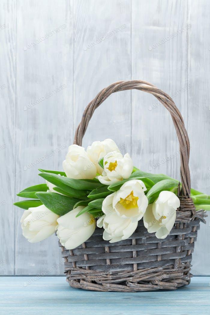 White tulips bouquet