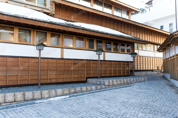 Japanese ancient wooden house