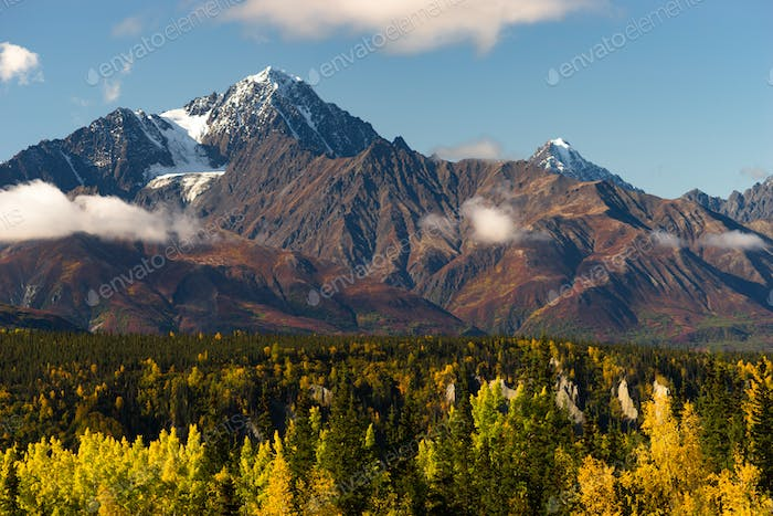 High Snow Covered Peaks Chugach Mountain Range Alaska