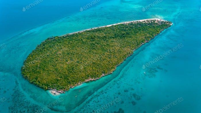 Luftaufnahme der Bawe Insel, Sansibar