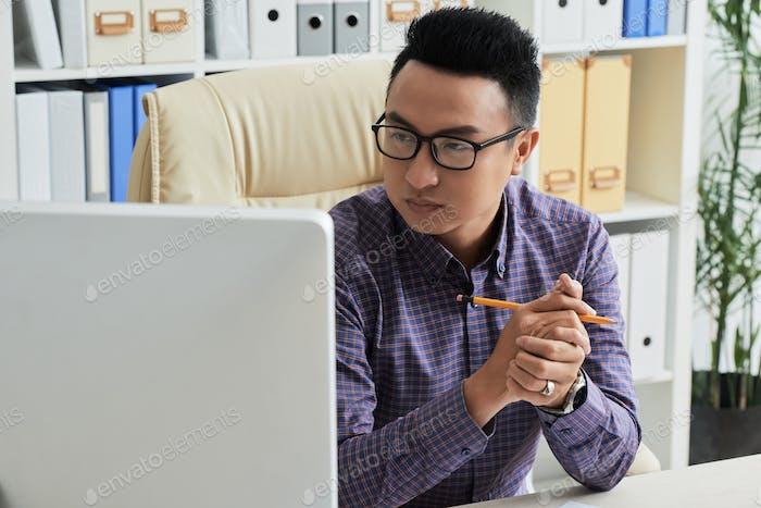 Lectura de datos en el monitor