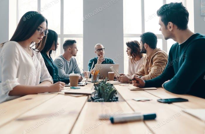Staff meeting.
