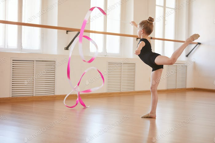 Little Gymnast with Ribbon