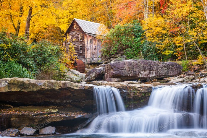 Glade Creek Gristmill in Autumn