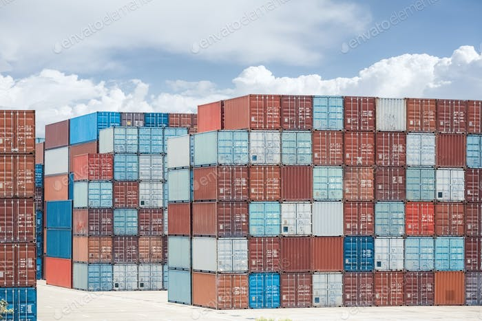 container stack yard