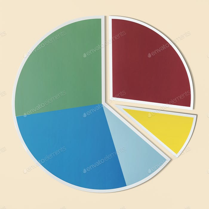 Data analysis pie chart icon