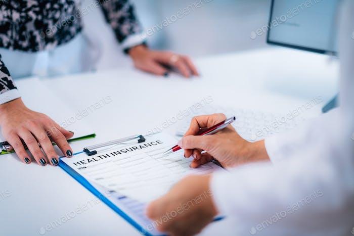 Medical Data Health Insurance Form
