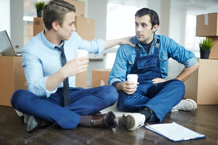 Talking at coffee break