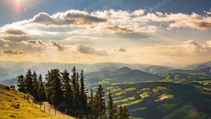 Blick vom Shockl Berg in Graz. Tourist Spot in Graz