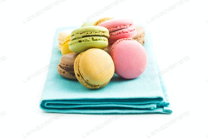 Sweet colorful macarons.