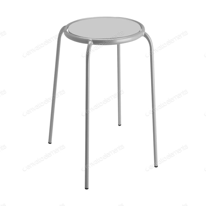 round top stool isolated