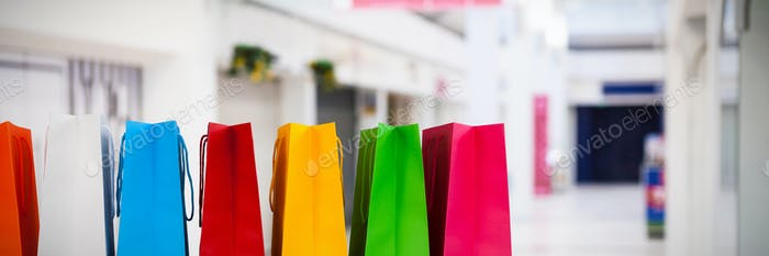 Composite image of shopping bags