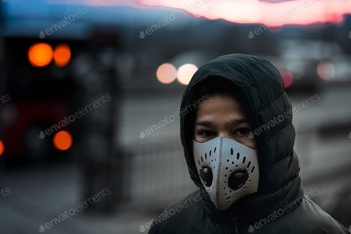 Luftverschmutzung in der Stadt