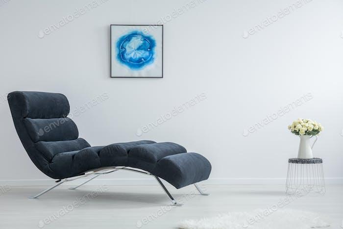 White and blue interior