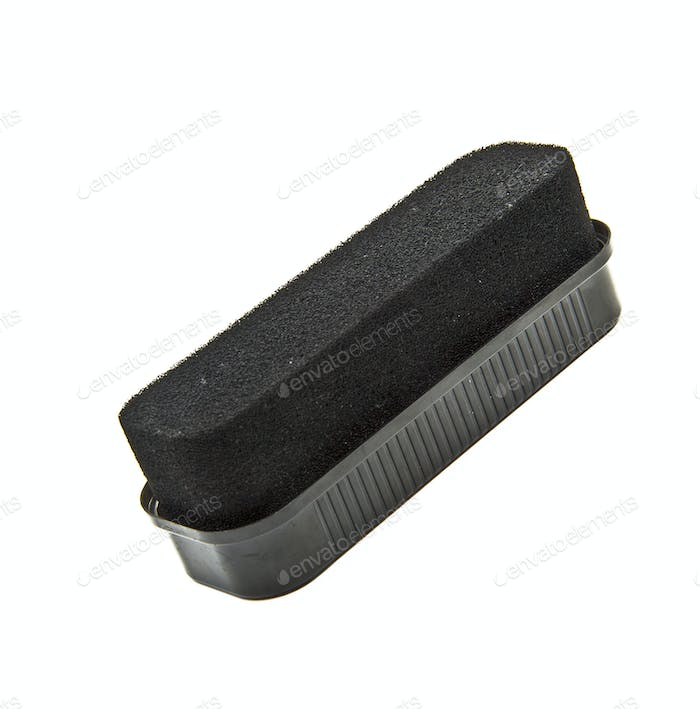 Black sponge for care of footwear