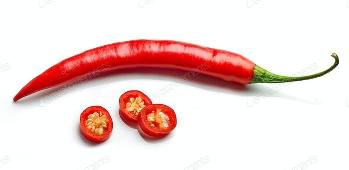 Rote scharfe Chilischote
