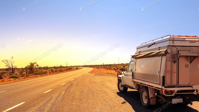 Australia road trip off road car