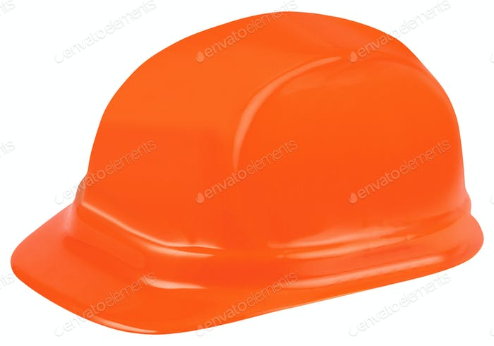 Construction helmet on white background