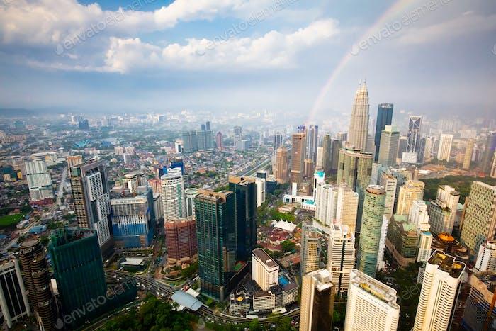 Kuala Lumpur Skyline in Malaysia