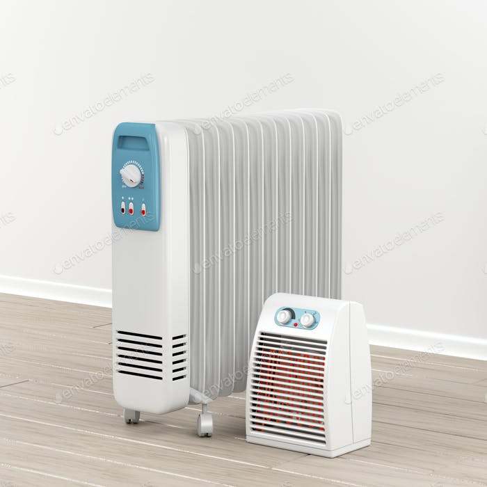 Electric oil-filled and fan heaters