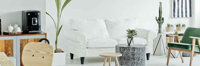 Living room in scandi style