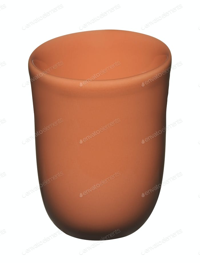Ceramic pot isolated