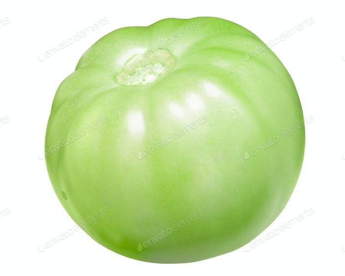 Green tomato without sepal