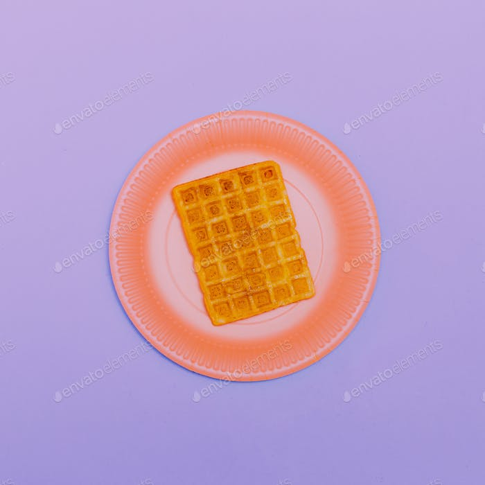 Wafer. Minimal design Art Candy colors