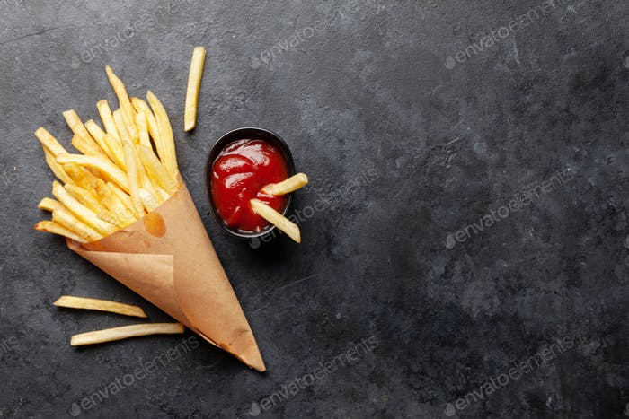 Potato fries chips