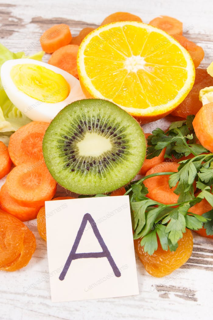Ingredients as source vitamin A, minerals and fiber, nutritious healthy eating