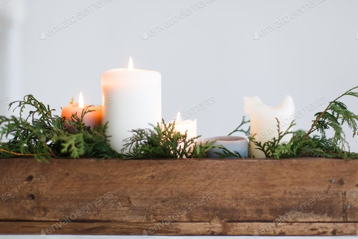 Festive christmas table decoration, winter holiday decor and wedding arrangement