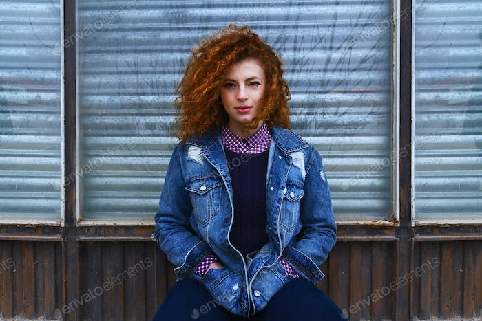 Cool and redhead young woman