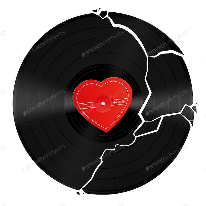 Broken Heart Vinyl Record