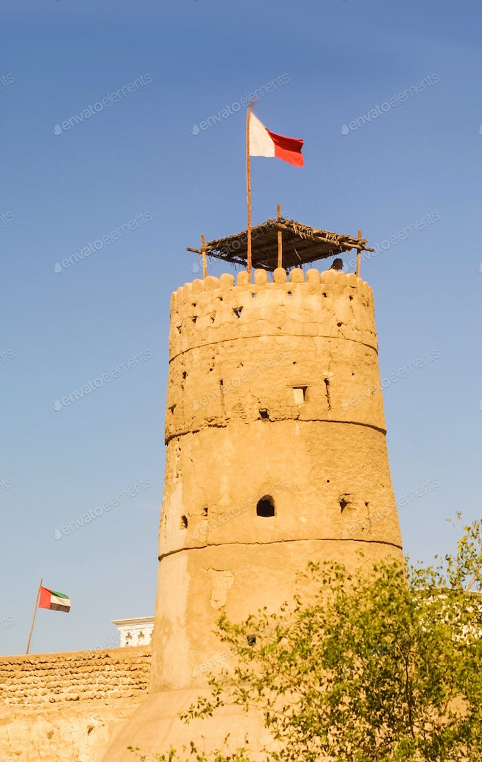 A Watchtower at Al Fahidi Fort in Dubai