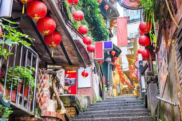 Jiufen Taiwan Steps