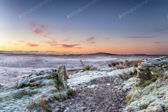 Beautiful Winter Sunrise over Bodmin Moor