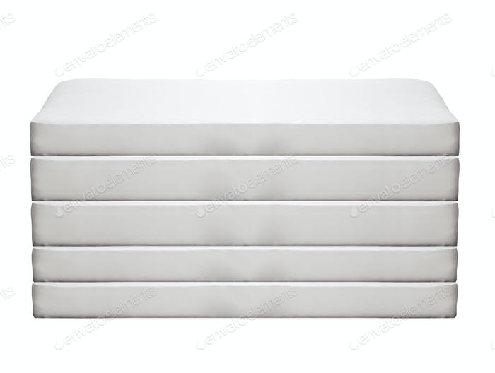 Orthopedic mattress isolated