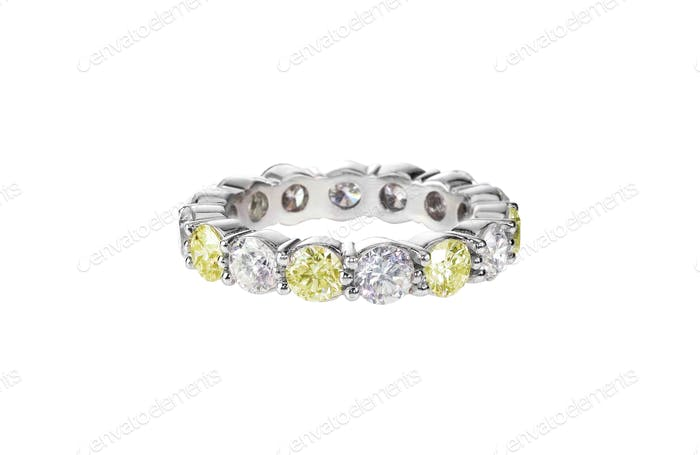 canary yellow diamond wedding engagement bridal band citrine ring