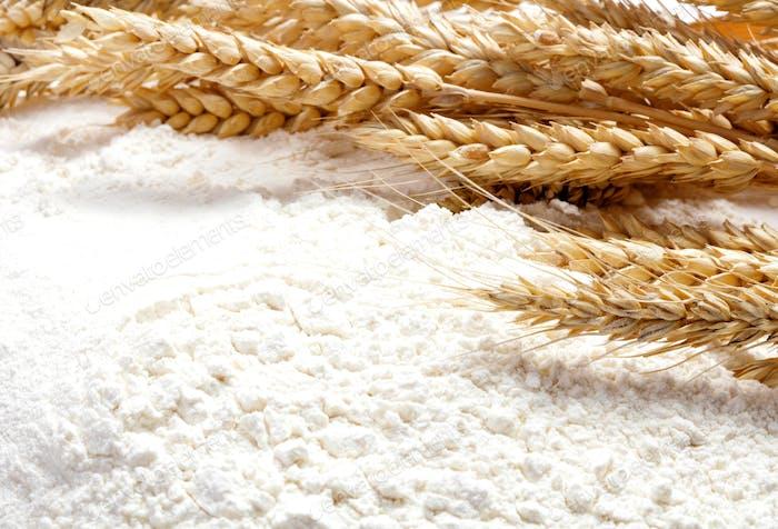 Heap of wheat flour