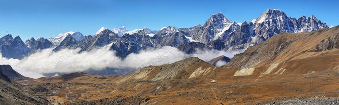 Views from Cho La pass in Everest region, Nepal