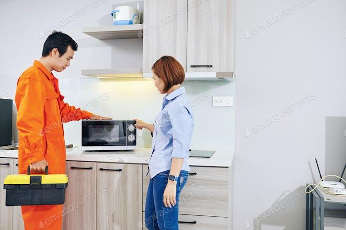 Problems broken microwave