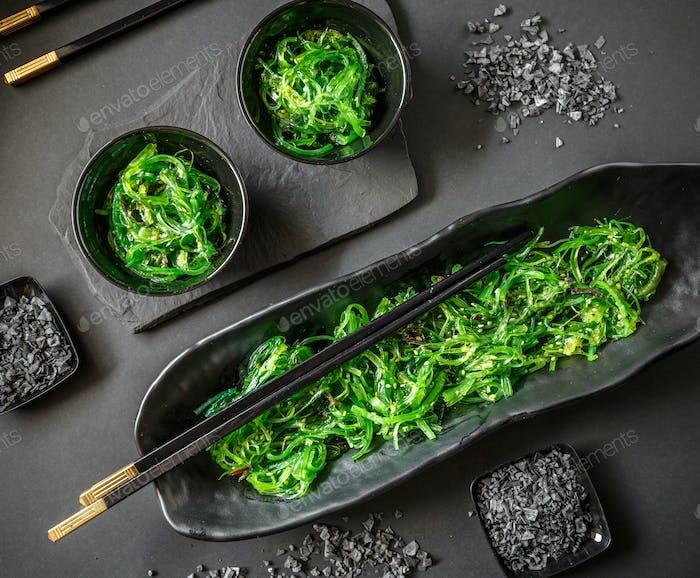 Seaweed salad or chuka wakame