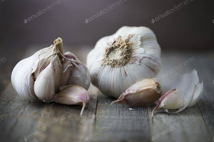 Head of Garlic with Cloves