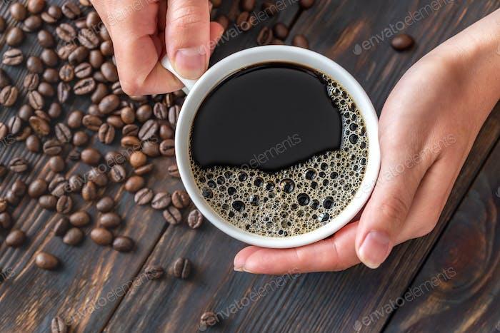 Eine Tasse Kaffee