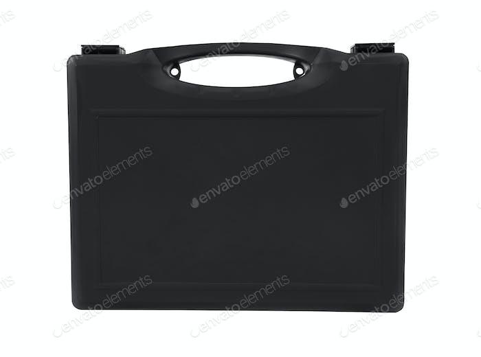 Black case isolated on white background